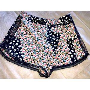 Topshop Patchwork Floral Shorts 2